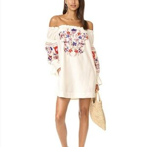 NWT Free People Fleur Du Jour Embroidered Dress